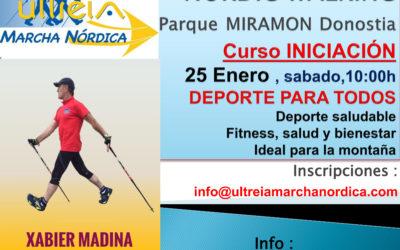 CURSO de MARCHA NORDICA ( Parque MIRAMÓN) 25 Enero 2.020