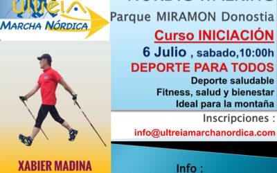 CURSO Iniciacion – MARCHA NORDICA 6 Julio