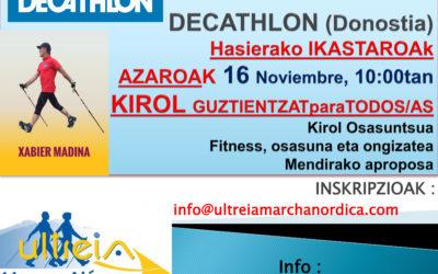 CURSO INICIACION en DECATHLON (Donostia)- 16 noviembre