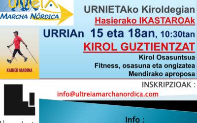 CURSOS de INICIACION en URNIETA (Gipuzkoa)           Mes de OCTUBRE