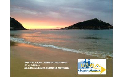 SALIDA MARCHA NORDICA – TRES PLAYAS DONOSTIA 15-12-2019