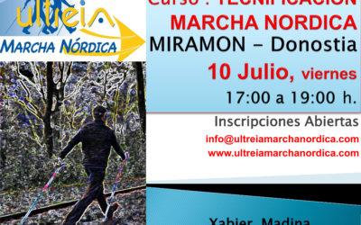 CURSO TECNIFICACIÓN MARCHA NORDICA – MIRAMON 10 Julio 2020