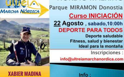CURSO INICIACION – MARCHA NORDICA 22 AGOSTO 2020 (DONOSTIA)