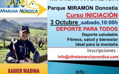 CURSO INICIACION – MARCHA NORDICA 03 Octubre 2020 (DONOSTIA)