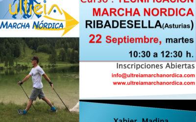 TECNIFICACION MARCHA NORDICA – RIBADESELLA (Asturias) 22 sep 2.020