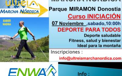CURSO INICIACION – MARCHA NORDICA 07 Noviembre 2020 (DONOSTIA)