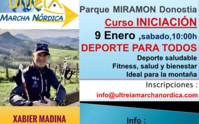 CURSO INICIACION – MARCHA NORDICA 9 ENERO  2021 (DONOSTIA)