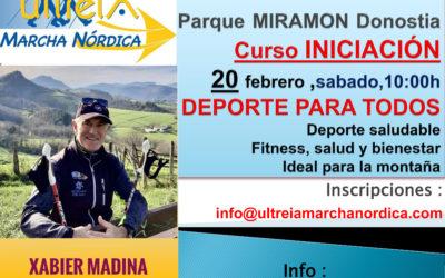 CURSO INICIACION – MARCHA NORDICA 20 febrero  2021 (DONOSTIA)