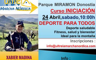 CURSO INICIACION – MARCHA NORDICA 24 Abril  2021 (DONOSTIA)