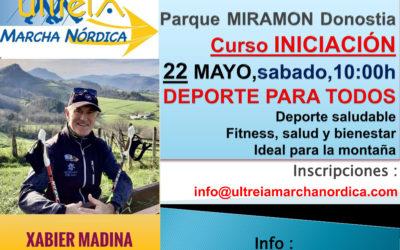 CURSO INICIACION – MARCHA NORDICA 22 MAYO  2021 (DONOSTIA)