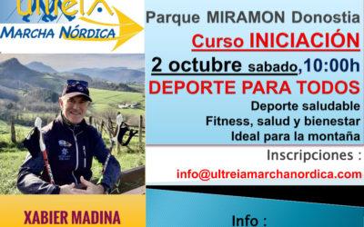 CURSO INICIACION – MARCHA NORDICA  2 octubre  2021 (DONOSTIA)