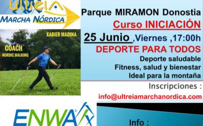 CURSO INICIACION – MARCHA NORDICA 25 JUNIO  2021 (DONOSTIA)